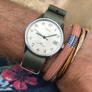 Superb vintage Timex breguet numerals manual wind calendar watch