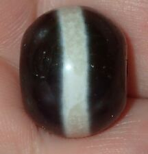 17mm Rare Vintage Indo -Tibetan Sulemani Chung old Lined Agate bead, #S3005
