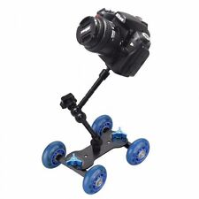 "ROLLING Track Slider Dolly Car Skater + 11"" Magic Arm per DSLR Rig macchina fotografica UK"