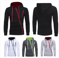 Men's Warm Hoodie Hooded Sweatshirt Coat Jacket Outwear Jumper Winter Sweater 02