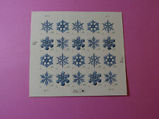 Stamps US * Sc 4101-04 SNOWFLAKE * Sheet of 20 * 39 cent * Mint *