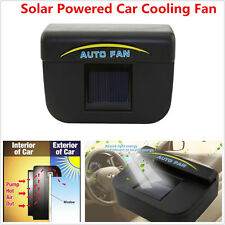 1x Solar Powered Car Window Windshield Air Vent Cooling Fan Ventilation Radiator