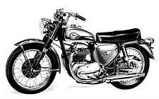 1966 BSA Thunderbolt Motorcycle Photo Poster zc215-KPKKXN