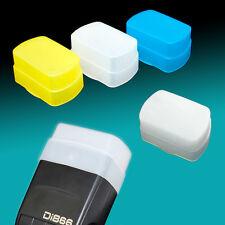 3 Color White Blue Yellow Flash Diffuser Sony HVL-F58AM Nissin Di866 Di622 II