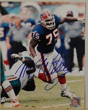 """AUTOGRAPHED 8"""" X 10"""" COLOR PHOTO>NFL FOOTBALL> MARCELLUS WILEY>BUFFALO BILLS"""