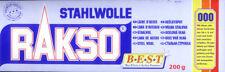 200g (2,50 €/100g) STAHLWOLLE GRAD 000 VON RAKSO, SCHLEIFWOLLE