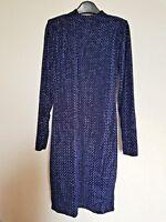 blue open back velvet dress size 8 high street stock _new