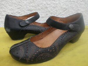 TAOS BLACK GENUINE LEATHER & LINED MARY JANE COMFORT SHOES-SZ 42/10.5-11 VGC