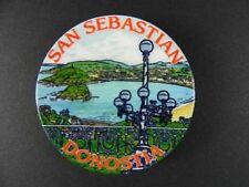 San Sebastian Magnet Spanien Souvenir Spain,6 cm,Kühlschrankmagnet aus Keramik