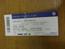 08/01/2012 Ticket: Chelsea v Portsmouth [FA Cup] . Thanks for viewing this item,