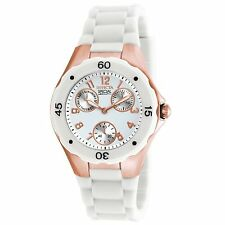 NEW Invicta 18798 Women's Angel Watch Analog Chronograph Day Date White Gold Wr