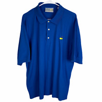 The Masters Polo Golf Shirt XL Royal Blue Augusta National Golf Shop Cotton S/S