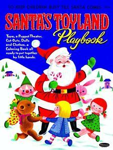 VINTAGE REPRINT - 1962 - SANTA'S TOYLAND PLAYBOOK