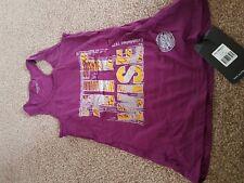 Fitwise Women's Sleeveless  T-Shirts Regular Fit Fashion Wear Gym Tops Purple
