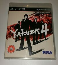 Yakuza 4 UK PAL Version Game RARE SEGA Sony PlayStation 3 PS3 RPG