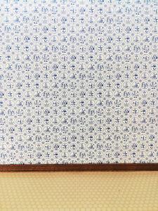 """Dollhouse Jackson's Miniatures Kitchen Wallpaper """"Compact Dutch Tile"""" 1:12 Scale"""