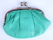 Pastel Green Leather Vintage Coin Purse Rockabilly 80s