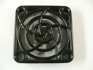 1 off small black plastic fan grill / cover 40 mm x 40 mm square electronics.D