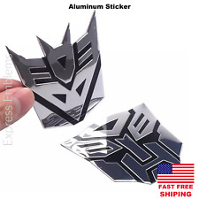 Aluminum Transformers Autobots Sticker | Optimus Prime Or Decepticon Decals