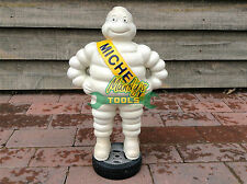 """15"""" Cast Iron Michelin Man Standing on Tyre Hands on Hips Tyre Mascot OUR LAR..."""