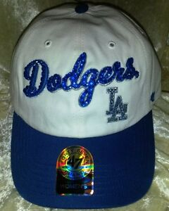 Los Angeles LA Dodgers Womens Rhinestone Bling 47 Brand MLB Baseball Hat ~NEW~