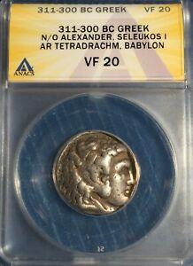 SELEUKID EMPIRE- Alexander III the Great-AR Tetradrachm-311-300 BC ANACS VF-20!