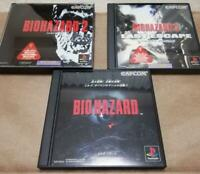 PlayStation Resident Evil Bi 1 2 3 set PS1 Japan Game From Japan
