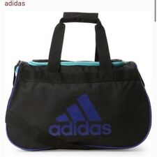 Adidas Diablo Duffel Bag BLACK MINT PURPLE LOGO ZIP TOP Fits Gym Locker LIFETIME