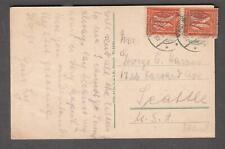 Germany 10-9-1921 inflation post card Rolandseck Rh mit Rolandsbogen to Seattle