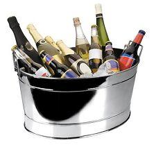 Lacor  Vasque à champagne | Vasque à champagne / bassine ovale en inox 18/10 - 4