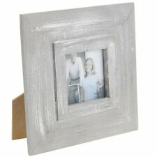 Picture Frame 18cm x 18cm with picture aperture of 7cm x 7cm in distressed grey