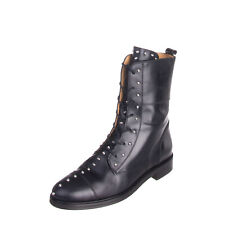 RRP €410 IRO Leather Mid-Calf Boots EU 38 UK 5 US 8 Studded Made in Portugal