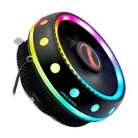 #QZO Coolmoon Gorgeous RGB CPU Cooler Color Change Quiet Desktop Cooling Fan