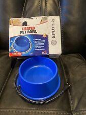 FARM INNOVATORS HEATED ELECTRIC DOG CAT PET WATER BOWL OUTDOOR WATERER 1 QUART B