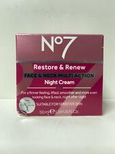 NO7 RESTORE & RENEW FACE & NECK MULTI ACTION NIGHT CREAM 50ML