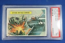 1965 Topps Battle Cards - #17 Attack on Nazi Convoy - PSA NM 7