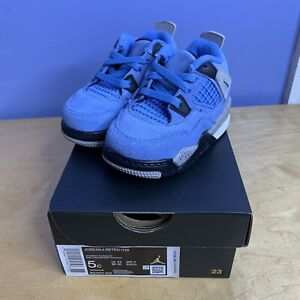 Nike Air Jordan 4 Retro University Blue Baby Toddler Size 5c Style: BQ7670-400