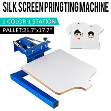 1 Color 1 Station Silk Screen Printing Machine Press Kit T Shirt Diy Equipment