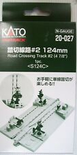 KATO N SCALE 20-027 124mm ROAD CROSSING CROSSING  TRACK  #2  1 pcs pack