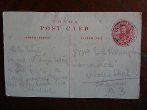 TONGA, RARE PPC 1909 from VAVAU TO WHANGAREI, NZ  VERY SCARCE ITEM