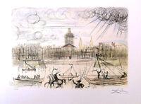 SALVADOR DALI Academy of France Litho Print Facsimile Signed & COA