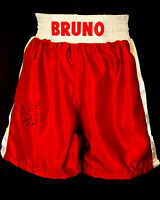 Frank Bruno Signed Custom Made Boxing Trunks : New
