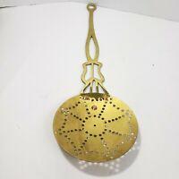 Vintage Brass Skimmer Peerage England Antique 19th Century Circa 1875 English