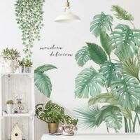 Tropical Leaves Plant Wall Stickers Vinyl Decal Nursery Decors Art Mural Gifts*-