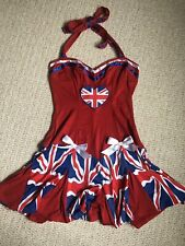 Ann Summers Cheer Leading Outfit Size 10 Fancy Dress With Pompoms Halloween