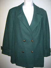 Pendleton Coat/Jacket Wool Woman's Green Double Breasted Lined USA ?Med/Lge? EC