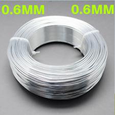 0.6mm Aluminium Craft Florist Wire Jewellery Making Silver 10m lengths