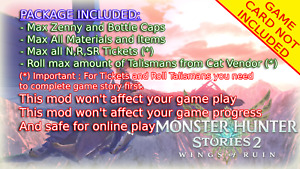 Monster Hunter Stories 2 Wing of Ruin Save Edit Mod Service✨MAX OUT EVERYTHING✨