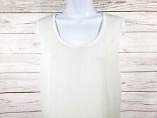 Jones Wear Knit Top Sz XL White Stretch Sheer Sleeveless Career Blouse