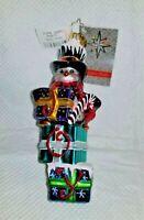"sgn Christopher Radko Glass Retired Ornament ""PENNY PERCH"" 2012 - #1015544 - 6""T"